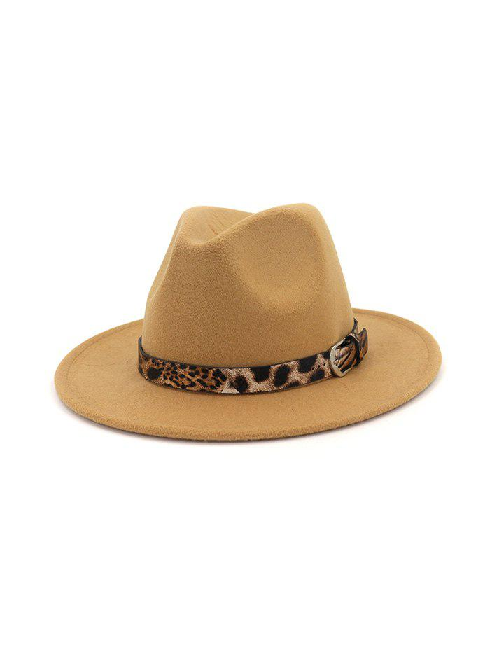 Урожай Leopard Embellished Jazz Hat