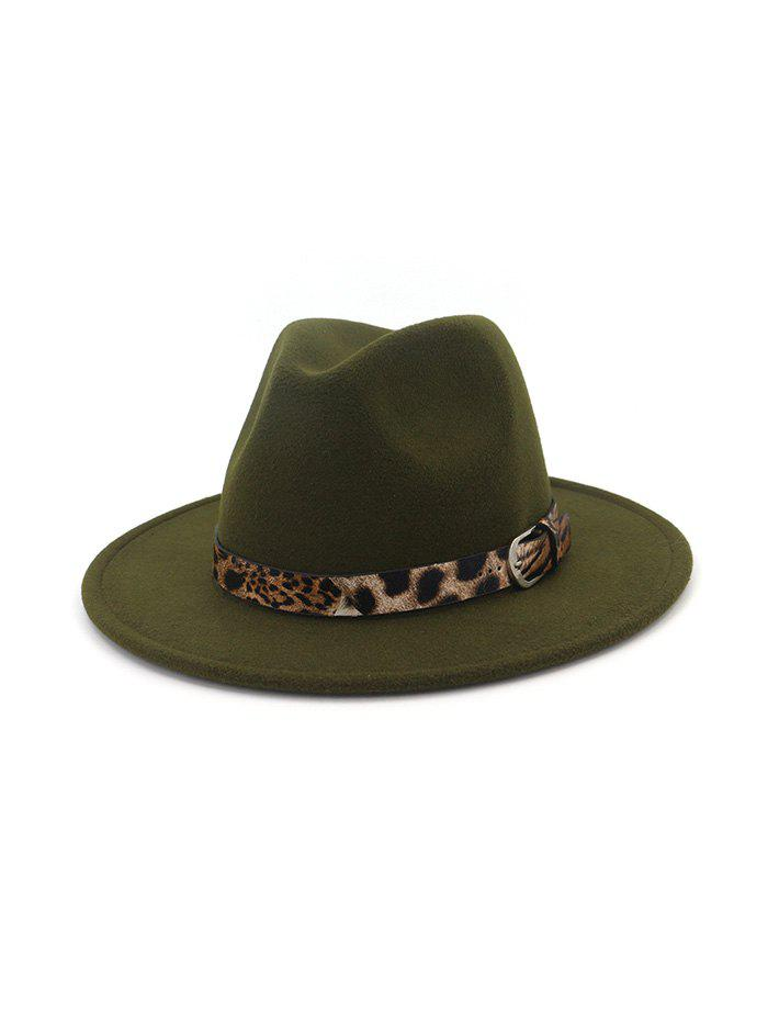 Best Vintage Leopard Embellished Jazz Hat