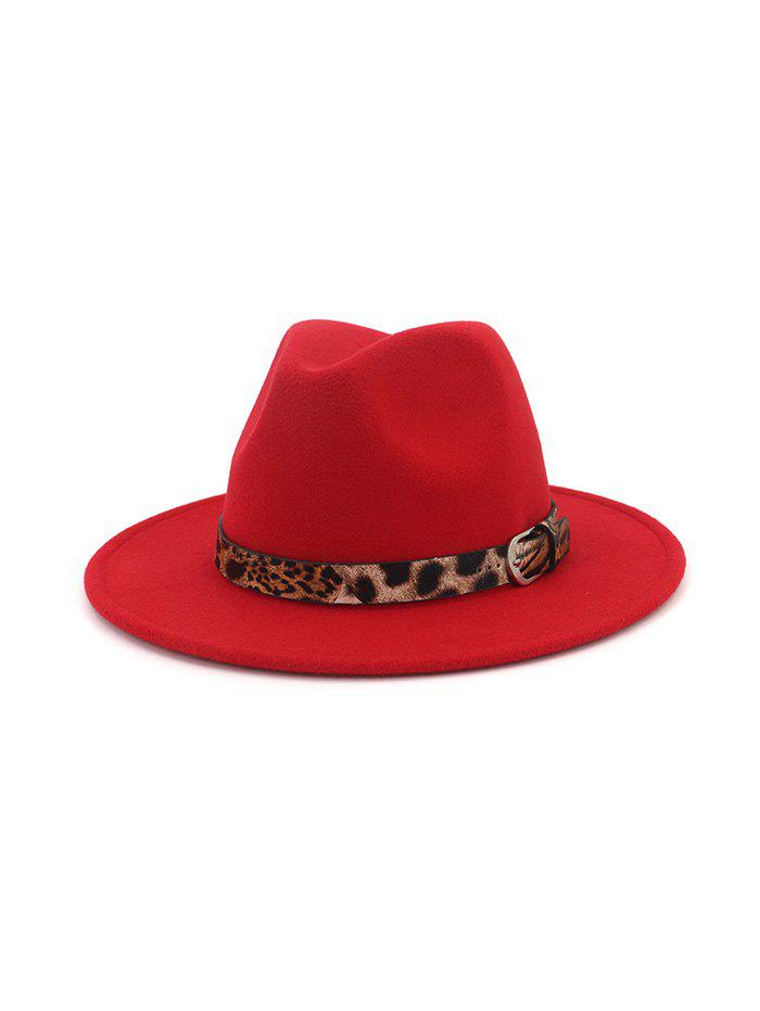 Cheap Vintage Leopard Embellished Jazz Hat