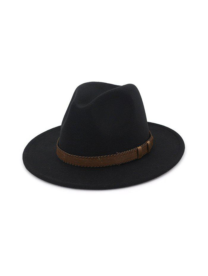 Cheap Retro Belt Embellished Jazz Hat