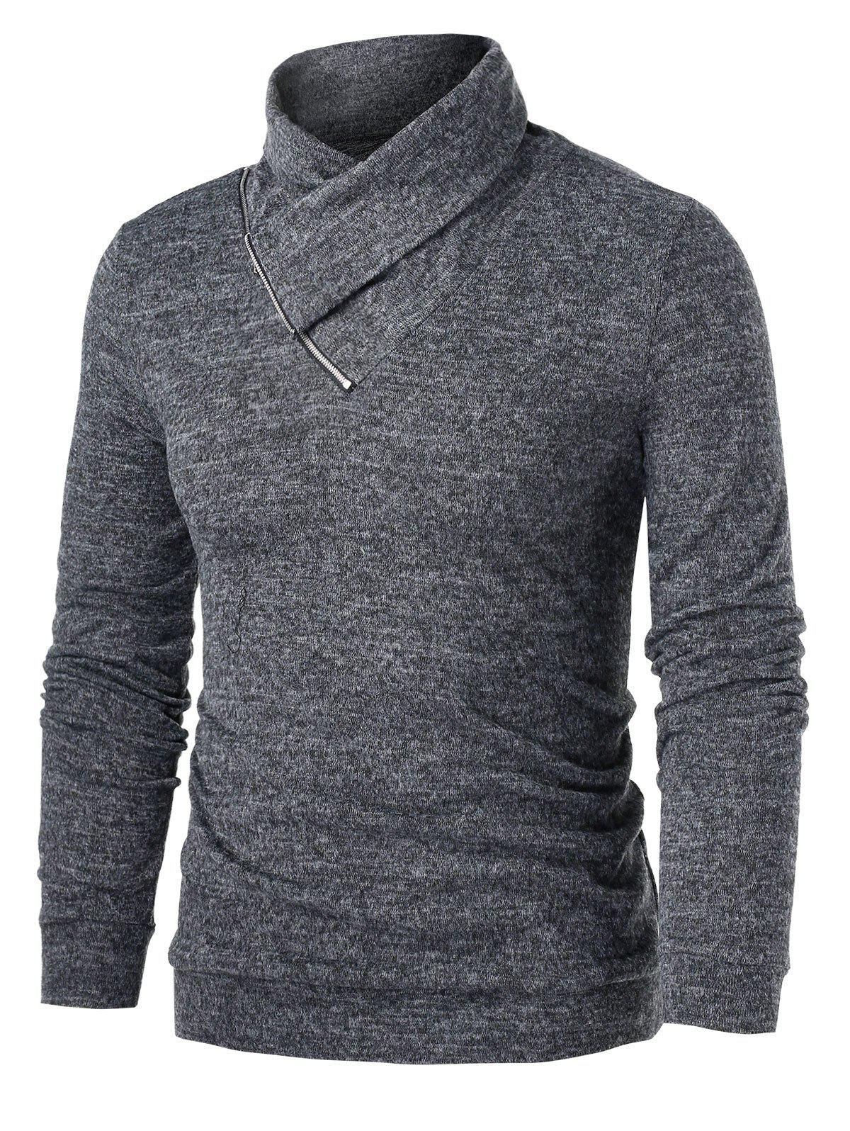 Sale Heathered Quarter Zip Pullover Sweater