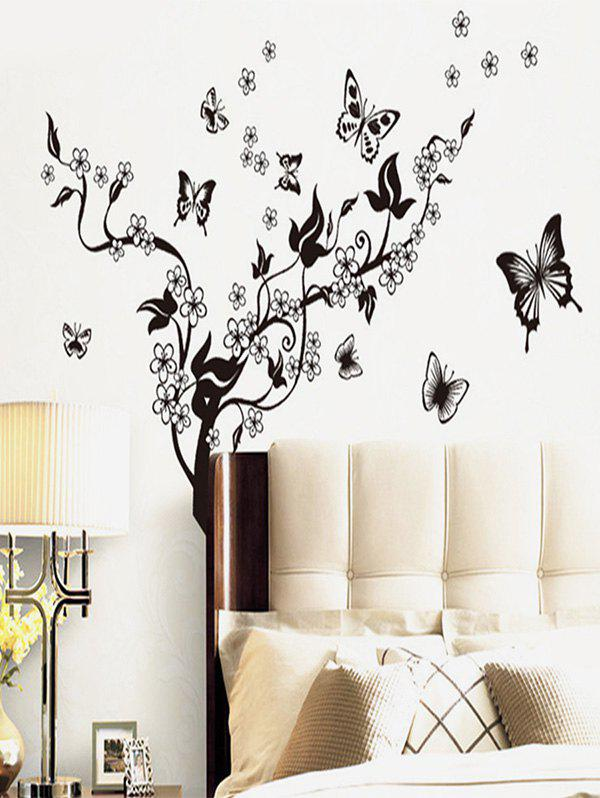 Shops Flower Butterfly Tree Pattern Wall Sticker Set