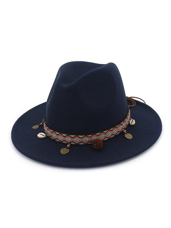 Unique Ethnic Shell Tassel Embellished Jazz Hat