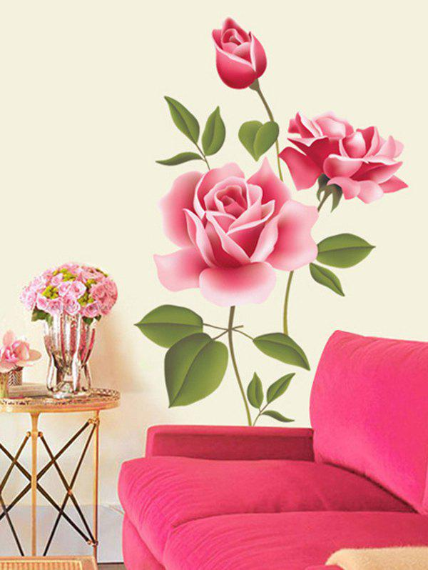 Outfit Flowers Print Decorative Wall Art Stickers