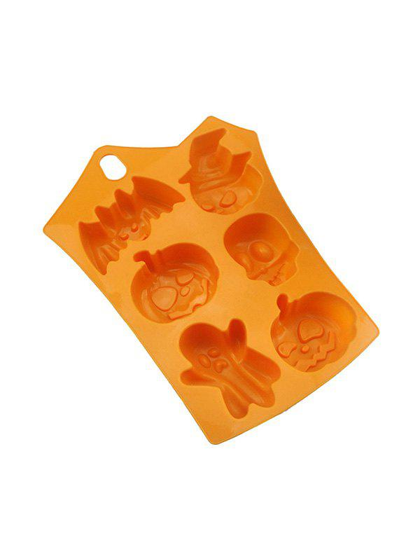 Buy 5 Pcs Halloween Pumpkin Skull Bat Shape Silicone Cake Baking Mold