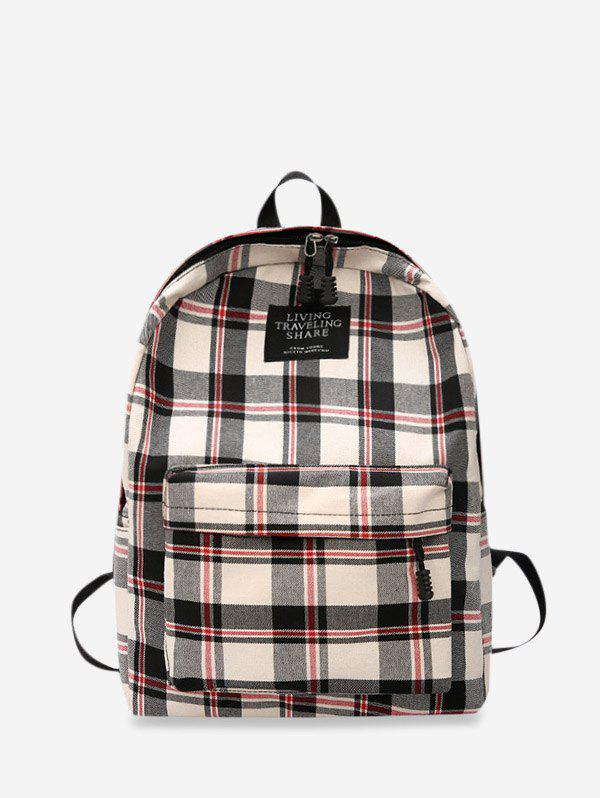Fashion Grid Pocket Design Casual Student Chic Backpack