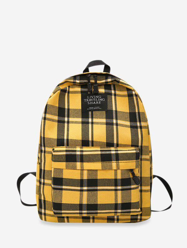 Cheap Grid Pocket Design Casual Student Chic Backpack