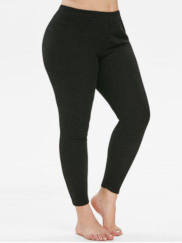 Plus Size High Rise Skinny Knitted Leggings