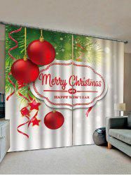 Merry Christmas Pattern Window Curtains -