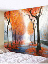 Autumn Woods Pattern Tapestry -