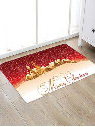 Merry Christmas Tree Pattern Floor Rug -