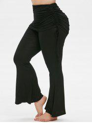 Plus Size Cinched Skirted Bell Bottom Pants -
