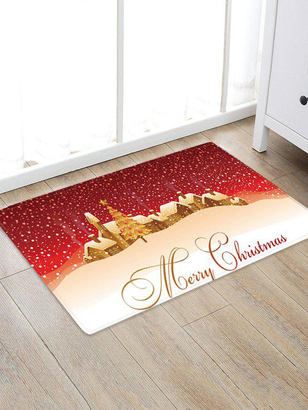 Latest Merry Christmas Tree Pattern Floor Rug