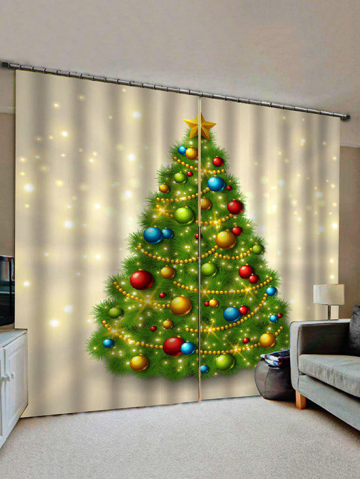 New Christmas Tree Pattern Window Curtains