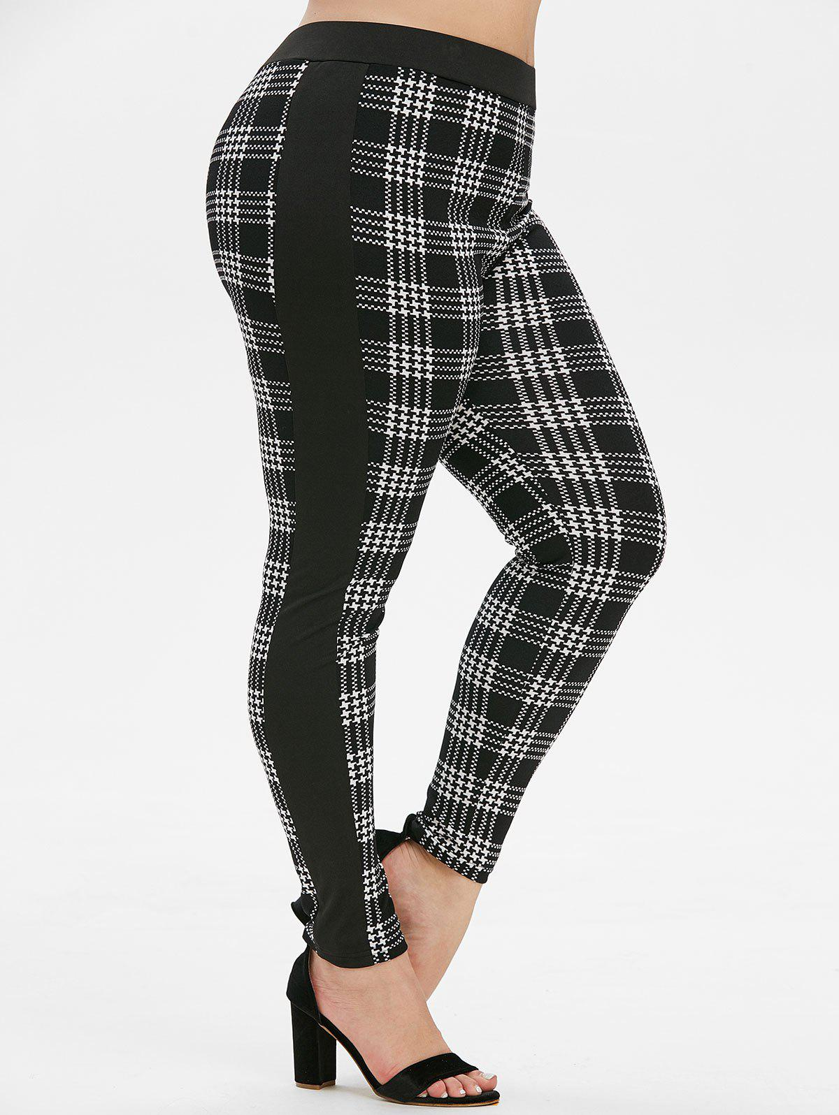 Shop Plus Size High Waist Houndstooth Leggings
