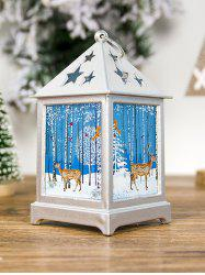 Christmas Tree Hollowed Star Printed Decorative Light -