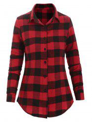Plaid Button Up Fitted Shirt -