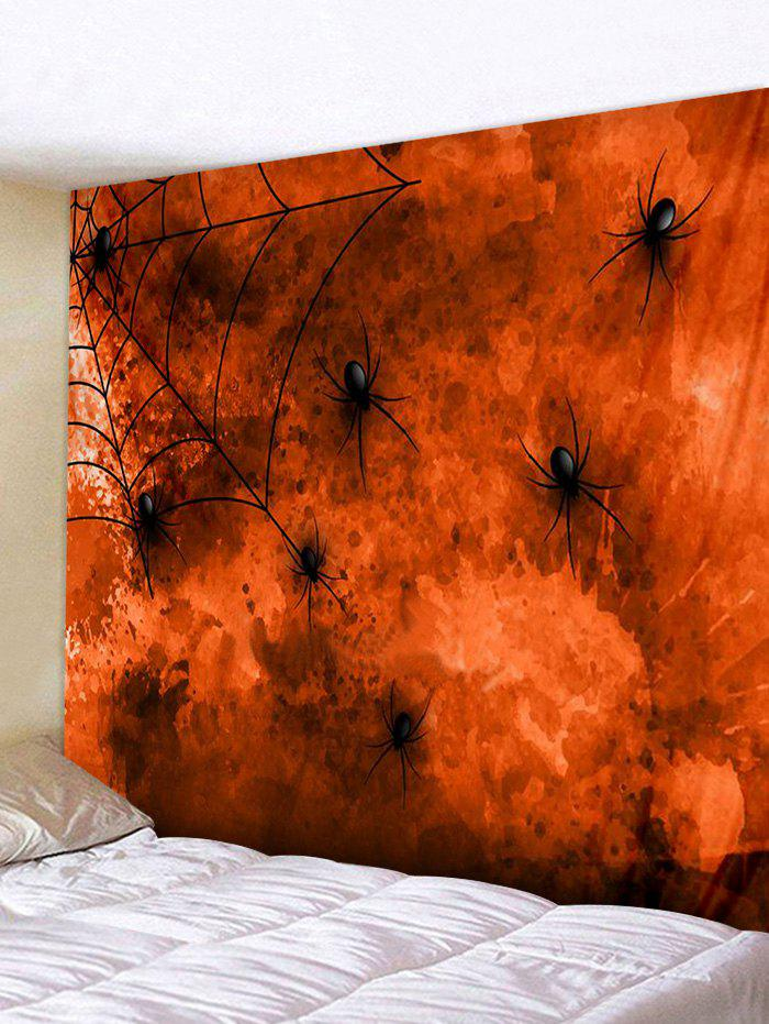 Store Halloween Spider Print Art Decoration Wall Tapestry