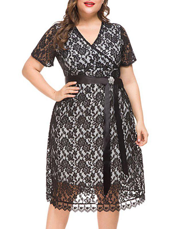 Best Plus Size Lace Midi Party Dress