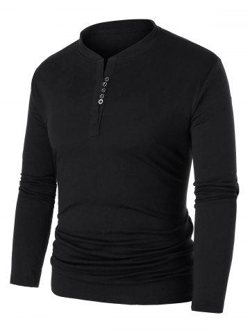 Sweat-shirt Simple Boutonné Grande Taille