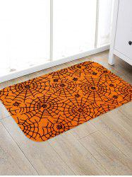 Halloween Spider Web Print Floor Rug -
