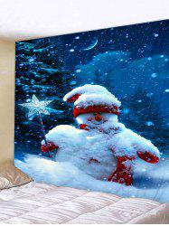 Christmas Snowman 3D Print Wall Tapestry -