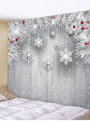 Christmas Tree Branch Snowflake Print Wall Tapestry -