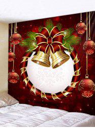 Christmas Ball Bell Print Decorative Wall Art Tapestry -