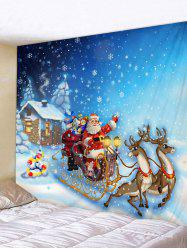 Cartoon Santa Claus Print Christmas Tapestry -