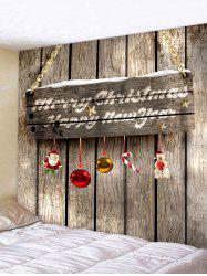 Christmas Wood Door 3D Print Wall Tapestry -