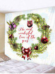Christmas Garland Letter Pattern Print Wall Art Tapestry -