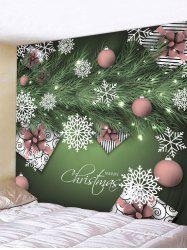 Christmas Snowflake Ball Print Hanging Wall Tapestry -