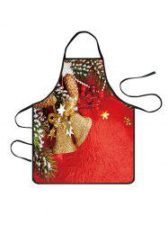 Christmas Bell Stars Print Cooking Apron -