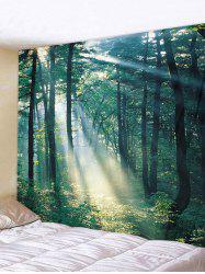 Sunlit Forest Patterned Tapestry Wall Hanging Art Decoration -