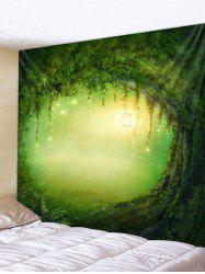 Forest Light Hole Print Tapestry Wall Hanging Art Decoration -