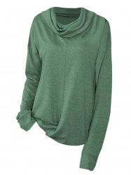 Cowl Neck Twist Hem Sweat-shirt Taille Plus -