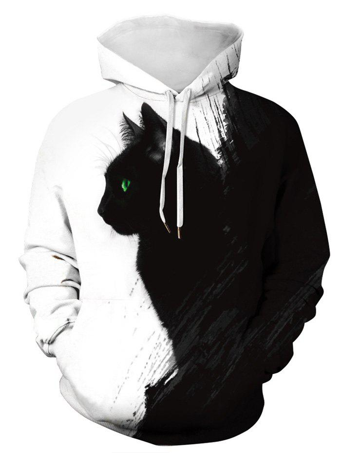 Hot Plus Size 3D Cat Print Pullover Hoodie