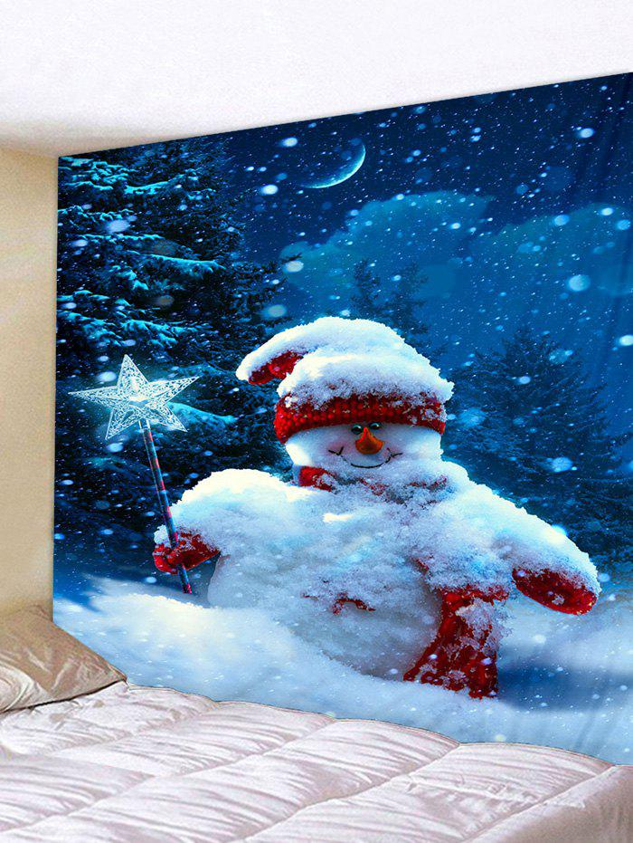 Fancy Christmas Snowman 3D Print Wall Tapestry