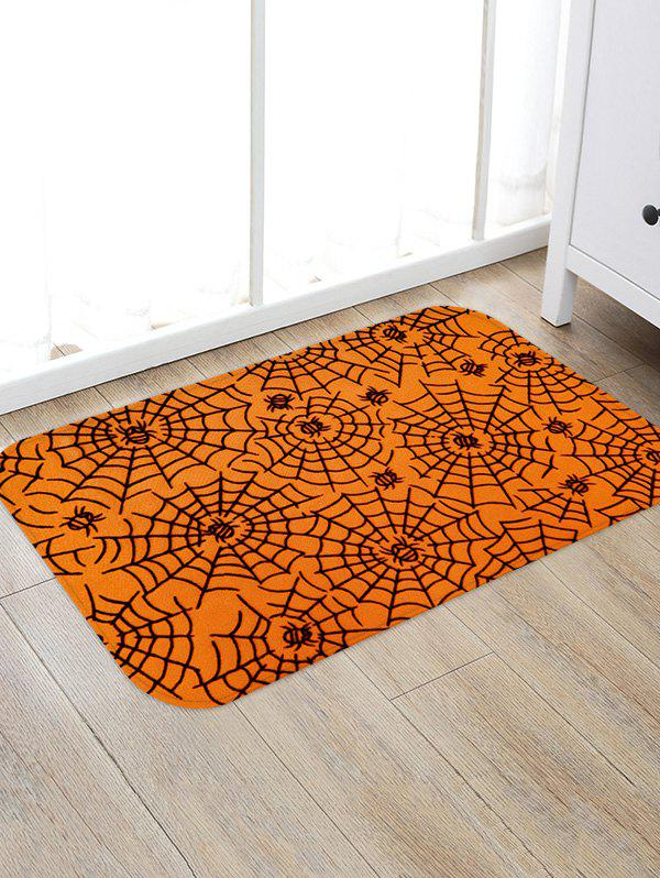 Buy Halloween Spider Web Print Floor Rug
