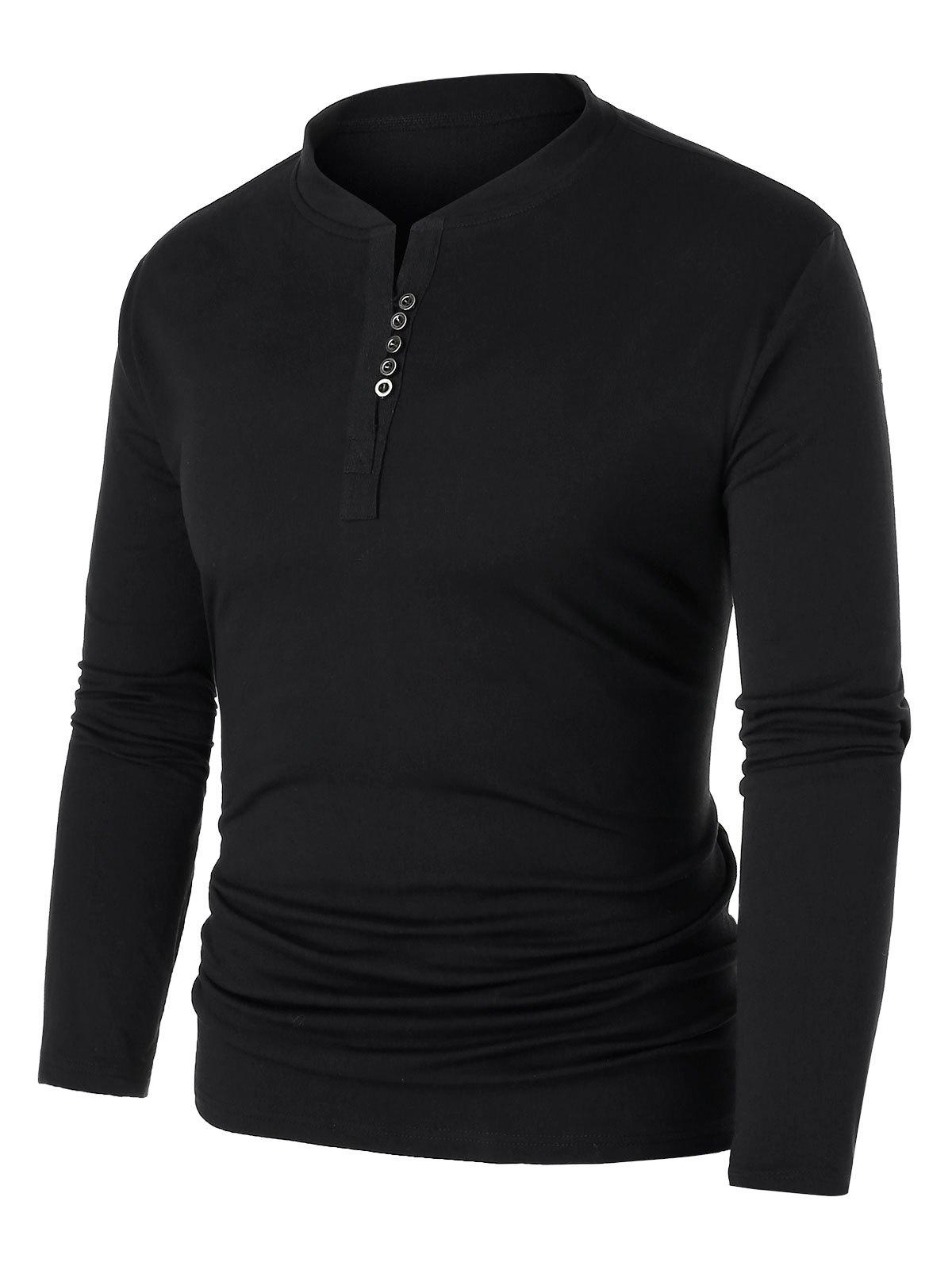 Cheap Plus Size Buttoned Plain Sweatshirt