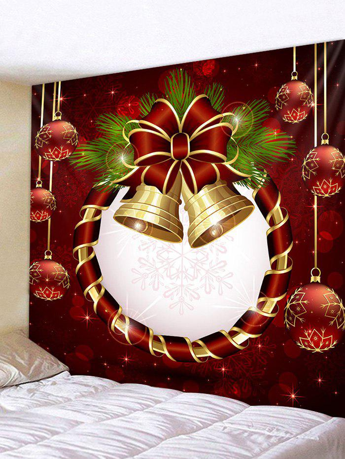 Unique Christmas Ball Bell Print Decorative Wall Art Tapestry