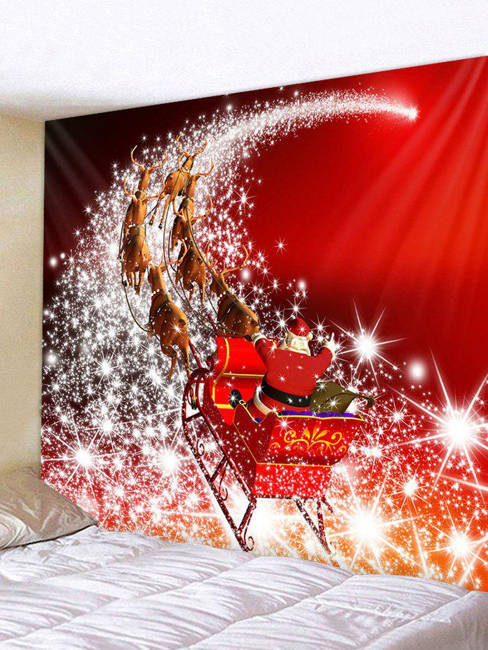 Fancy Christmas Santa Starry Road Print Wall Decor Tapestry