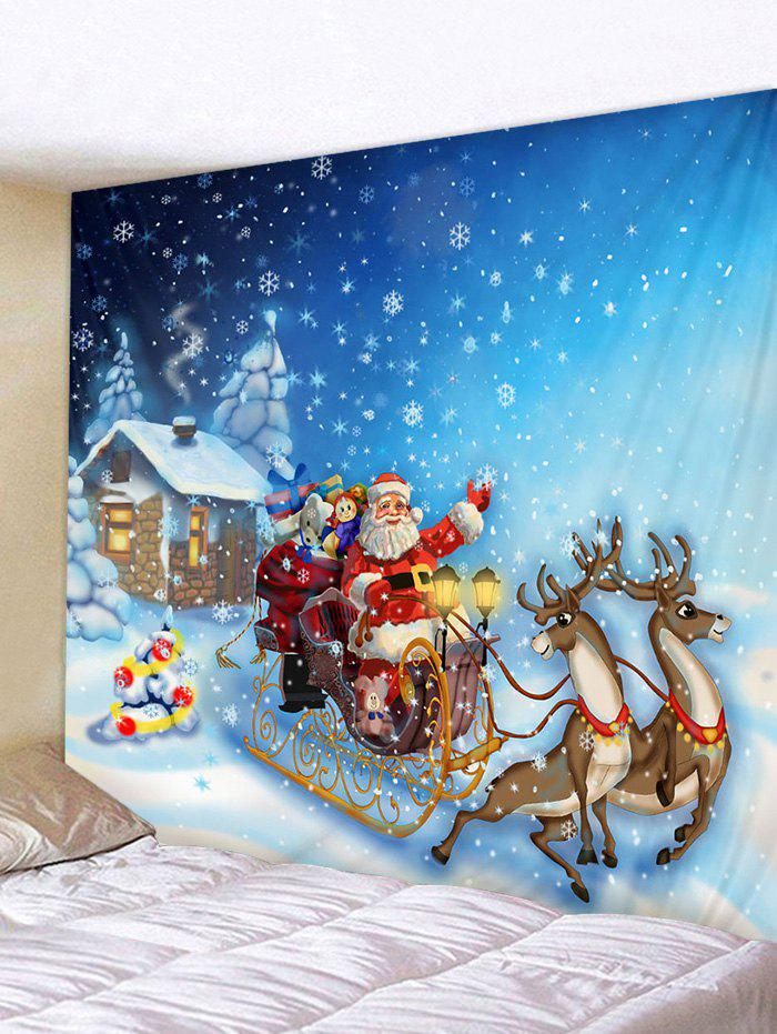 Chic Cartoon Santa Claus Print Christmas Tapestry