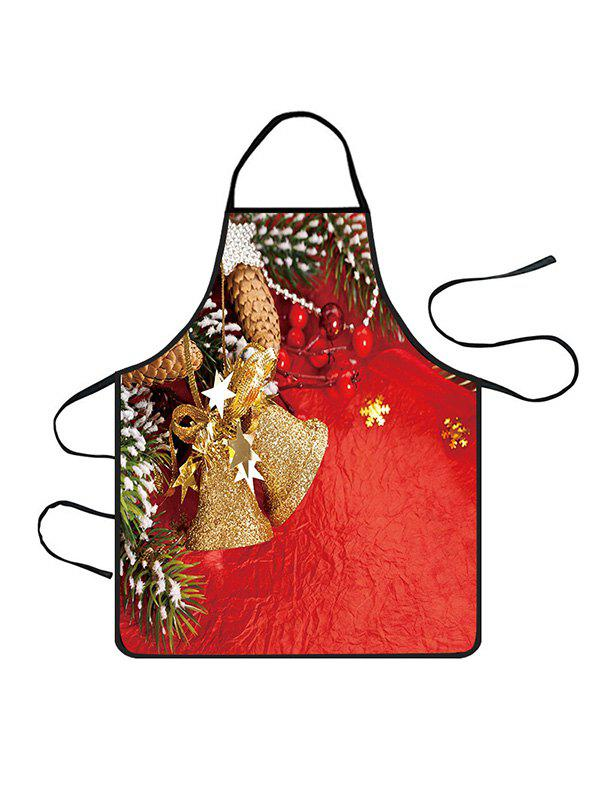 Latest Christmas Bell Stars Print Cooking Apron
