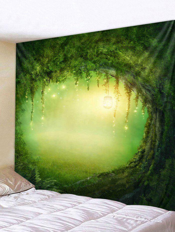 Store Forest Light Hole Print Tapestry Wall Hanging Art Decoration