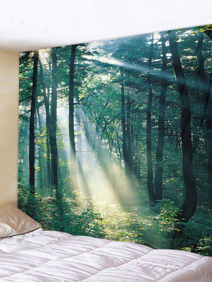 Best Sunlit Forest Patterned Tapestry Wall Hanging Art Decoration