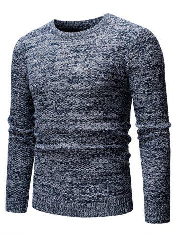 Round Neck Casual Heathered Sweater