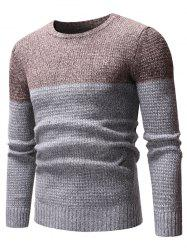 Two Tone Splicing Casual Pullover Sweater -