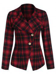 Two Button Plaid Jacket -