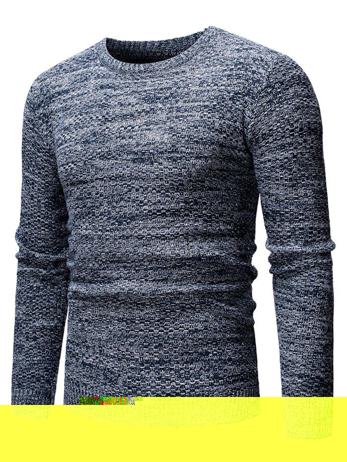 New Round Neck Casual Heathered Sweater